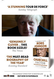 'The Churchill Factor' paperback poster campaign